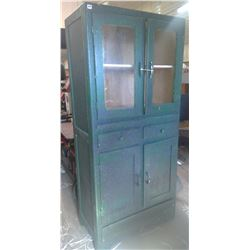 Big Green Cabinet - Missing One Glass Cover