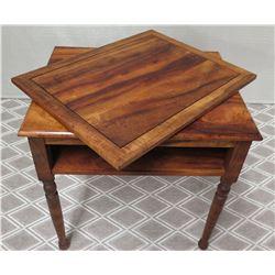 Martin & Mac Arthur Koa Side Table 28.5  x 23  x 31 H