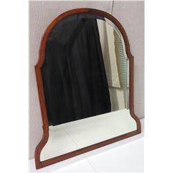 Wood-Framed Mirror 31.5 H, 28.5  Bottom Width