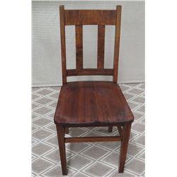Koa Wood Chair 37 H Backrest (missing one slat on backrest)