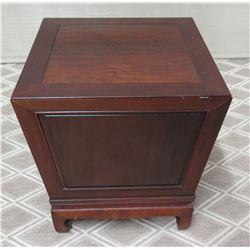 Lidded Wooden Stand (Hidden Compartment) 20  x 20  x 22
