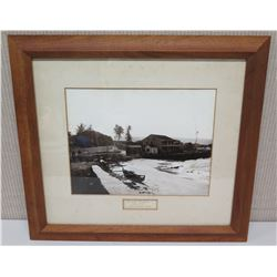 "Framed Photograph ""Hulihee Palace Circa 1895 Unpublished View"" 22 x 20"