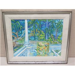 "Framed Art - ""Punalu'u"", Unsigned 25 x 21"