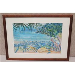 Framed Art - Oceanscape 27 x 19