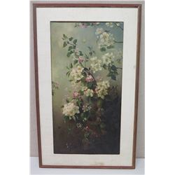 Framed Art - White Flowers 22.5 x 37