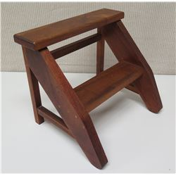 Wooden Two-Tier Step Stool 13.5 Tall