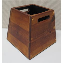 "Wooden Squid Box w/ Handles 12""W x 11.5""H"