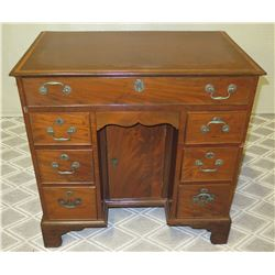 "Wooden Desk w/ Cabinet & 7 Drawers & Decorative Metal Pulls 31"" x 19"" x 32""H"