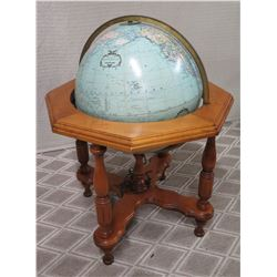 "20"" Heirloom World Globe with Wooden Stand, by Replogle"