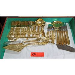 Gold Tone Stainless Steel Flatware & Serving Utensils, Roger's Cutlery Co.