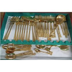 Gold Tone Stainless Steel Flatware & Serving Utensils by S.M. Placori Italy