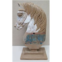 """Painted Horse on Stand, Approx.30"""" Tall"""
