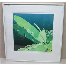 Large 35x37 Framed Serigraph Silk Screen Print, 33 of 47, Signed Janet Holaday 1981 (may have termit