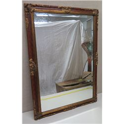 Large Ornate Framed Mirror w/ Gilt Accents 28x41