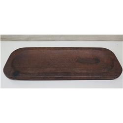 "Rounded Rectangular Wood Tray 29.5"" x 10.5"" x 2""H"