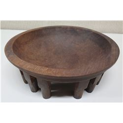 """Wooden Kava Bowl, Approx. 10.5""""Dia, 4"""" H"""