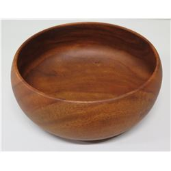"Round Wooden Bowl, Kamani Wood (Philippines), Approx. 9"" Dia, 4""H"