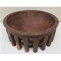 "Wooden Kava Bowl, Approx. 15.5""Dia, 7"" H"