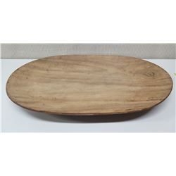"""Large Oval Wooden Tray, Approx. 25.5""""Long, 16"""" Wide"""