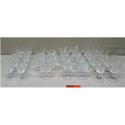 Approx. Qty 35 Glass Stemware, Various Sizes