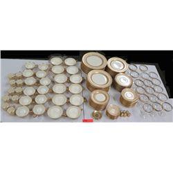 Set of 'Crown Lion Ivory' Fine China, Hutschenreuther Bavaria - Plates, Bowls, etc