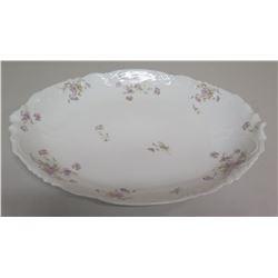 """Limoges France Oval Floral Porcelain Platter, 20""""x15"""""""