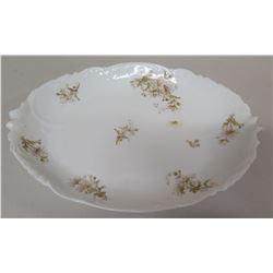 "Limoges C & S London Oval Floral Porcelain Plate 16""x11"""