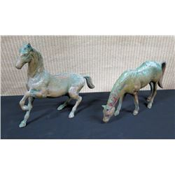 Accent Décor: Qty 2 Metal Horses
