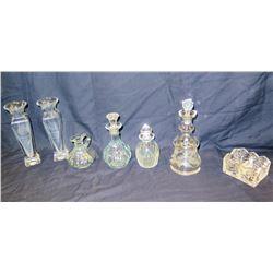 Qty 8 Misc. Decanters, Vases, etc