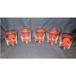 """Qty 5 Collectible """"Don Ho"""" Beverage Glasses, 4"""" H"""