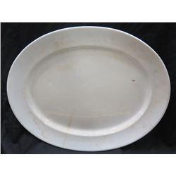 "Large Vintage Oval White 'Royal Ironstone England' Serving Platter 22"" x 17.5"" (shows wear, discolor"