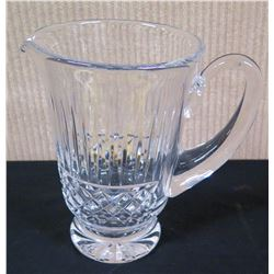 """Glass Pitcher, Approx. 7.25"""" Tall, 5"""" Dia"""