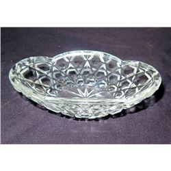 """Glass Candy Dish w/ Scalloped Edges, Approx. 4.5"""" Dia"""