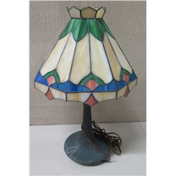 """Stained Glass Tiffany-Style Table Lamp, Approx. 19.5"""" Tall"""