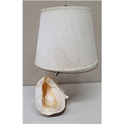 """Lamp with Conch Shell Base, Approx. 26"""" Tall"""