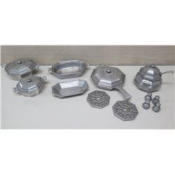 Serveware Set w/ Lids, Trivets, Shakers etc - 'International Silver Co'