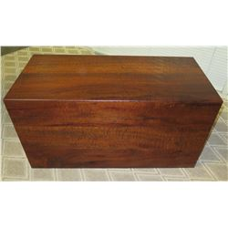 Wooden Chest Trunk - Martin & McArthur, Signed '82