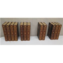 Qty 12 Prescott Books, Ltd. Ed: Conquest Of Mexico, Philip the Second, Charles the Fifth, Conquest o