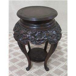 "Round Black Stand w/ Curved Legs, 15"" Top Dia, 31""H"
