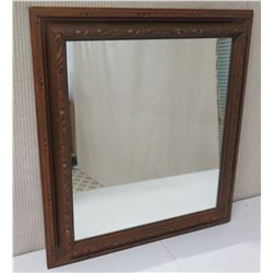 Wood Framed Mirror 25 x 27.5