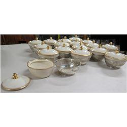 Qty 15+ Lenox Porcelain Lidded Bowls
