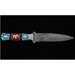 7Navajo D. Yellowhorse Turquoise Ram & Arrow Knife