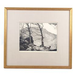 Original Chauncey Ryder Framed Landscape Etching