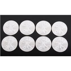 2014 Silver Liberty Eagle 1 Ounce Coins (8)
