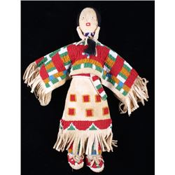 Sioux Mary Standstall Beaded Hide Doll 1940
