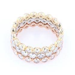 2.28 cts. Diamond Three-Piece Gold Ring Set
