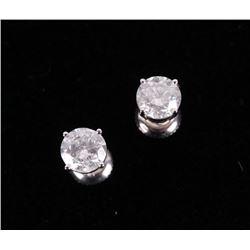 Brand New 2.11 ct. Diamond 14K Stud Earrings