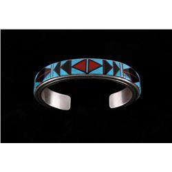 B. Yazzie Navajo Sterling & Multi Stone Bracelet
