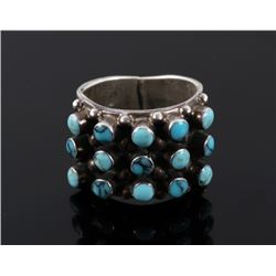 Navajo Sterling & Turquoise Signed Ring