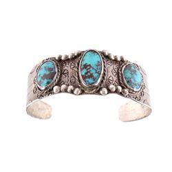 Navajo Sterling Silver & Turquoise Bracelet